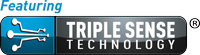 Featuring Triple Sense Technology Logo